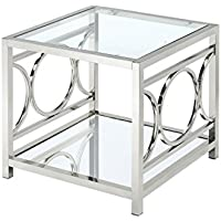 HOMES: Inside + Out Iohomes Ortencia Chrome O-Ring Frame End Table