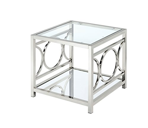 HOMES: Inside + Out Iohomes Ortencia Chrome O-Ring Frame End Table For Sale