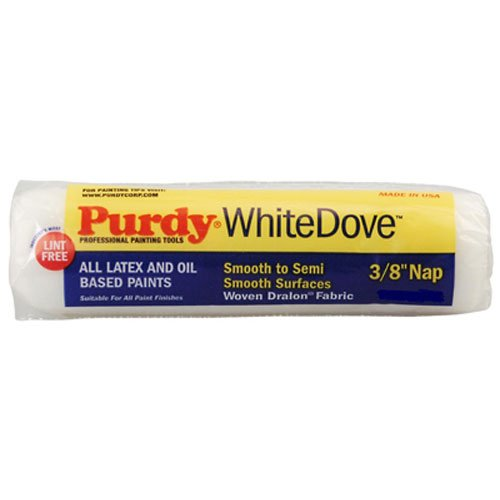 (Purdy 144670092 White Dove Roller Cover, 9 inch x 3/8 inch nap)