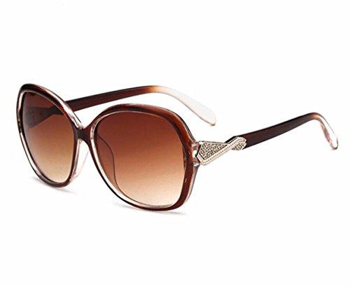 UV400 sol multicolor Opcional de de espejo mujer a marco gran RDJM para de d redondos rana Gafas tendencia lentes de ETa5qw1nv