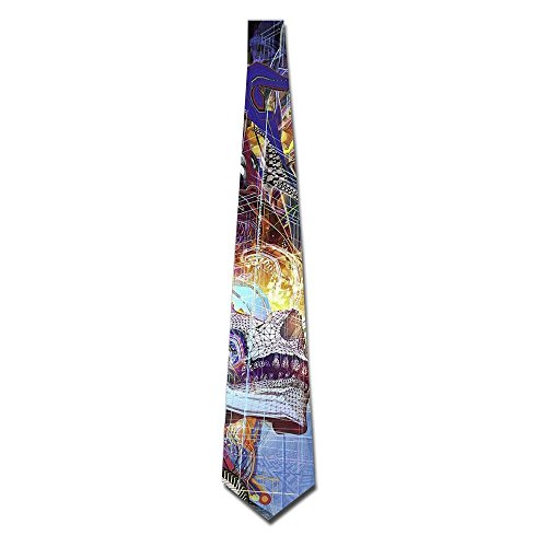 (Mens Fantasy Art Colorful Chinese Dragon Necktie Luxury Fashion Skinny Microfiber Tie)