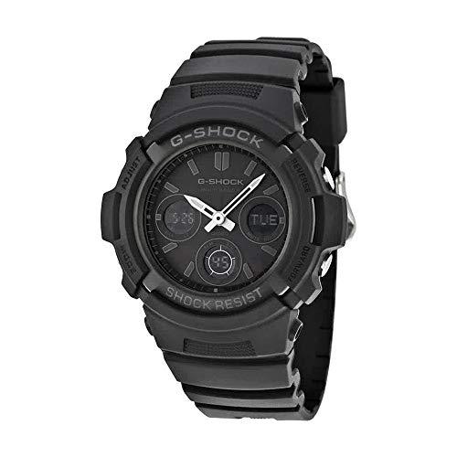 Casio Mens Solar Multi-Band Atomic 6 G-Shock - All-Black Design - Analog-Digital