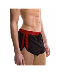 Men's Sports Shorts Home Casual Trunks Gym Waist Drawstring Boxer Briefs Short
