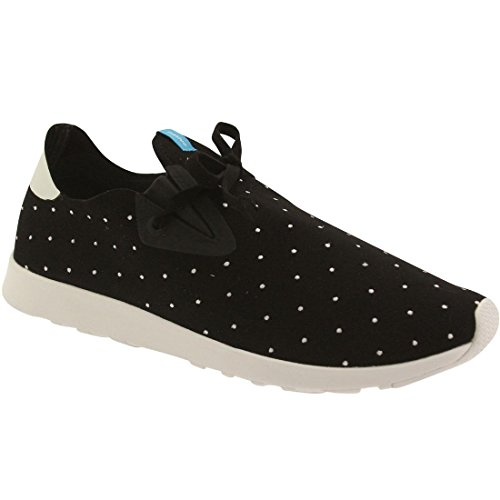 Inheemse Unisex Apollo Moc Fashion Sneaker. Wip Zwart / Wit Shell / Stip