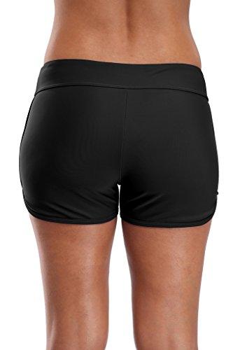 beautyin Solid Swim Shorts for Women Boyshort Swimming Bottoms Boardshorts L by beautyin (Image #3)