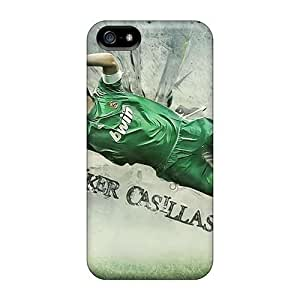 Durable Protector Case Cover With Real Madrid Iker Casillas Hot Design For Iphone 5/5s