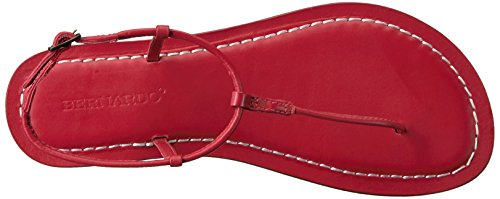 Women's Red Flat Bernardo Sandal Lilly qCqdH