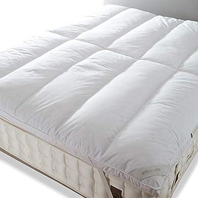 Penelope Bedroom UK plumón, 50% Pluma, colchón, Funda de algodón ...