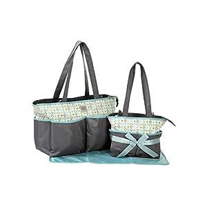 Mee Mee Multipurpose Diaper Bag (2-Piece Diaper Bag Set, Black)