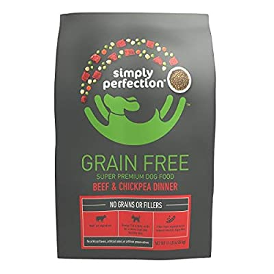 Simply Perfection Super Premium Grain Free Beef & Chickpea Dinner Dry Dog Food