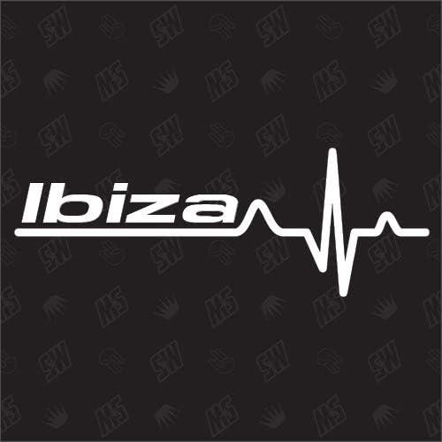 Ibiza Herzschlag Sticker Kompatibel Mit Seat Auto