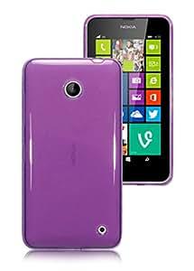 Morado Plain brillante carcasa de Gel para Nokia Lumia 630