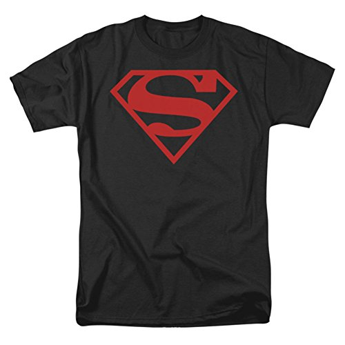 Superman+tank+tops Products : Trevco Men's Superman Red on Black Logo T-Shirt