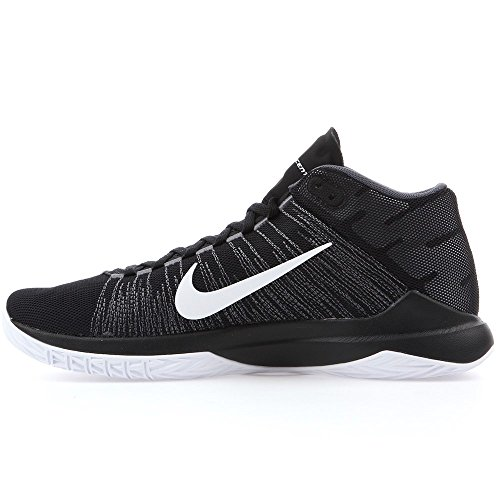 Nike Herren Zoom Ascention Basketball Turnschuhe, Black (Schwarz / Weiß-Anthrazit-Drk Gry), 46 EU