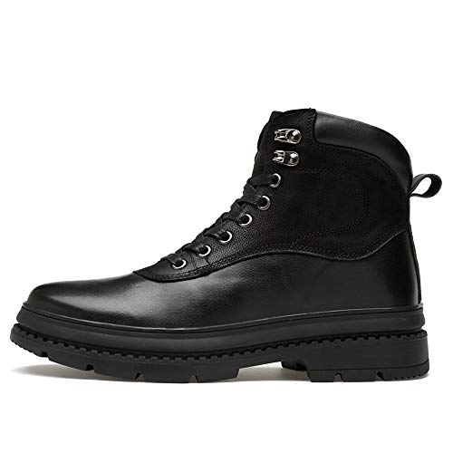 Pelle Pelle Boots Boots Boots Men Warm Black Velvet Cuciture Opzionale all Antiscivolo Daily 42 Stivaletti Casual Nero Warm Martin Bangxiu in Dimensione for EU Occasions Boots for Color Ox Suola YEw1vpq