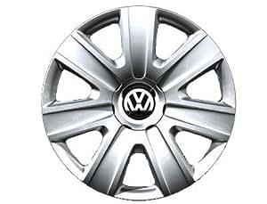 Original Volkswagen VW Piezas de repuesto VW Polo Tapacubos Kit 14 Pulgadas, Original Accesorios (Polo 6R, Fox