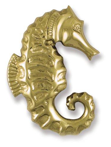 Seahorse Door Knocker - Brass (Premium Size)