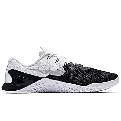 Nike New Men's Metcon 3 Cross Training Sneaker (10.5, Black/White/Metallic Silver)