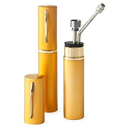 Metier Metal Pocket Bong (3 cm x 3 cm x 15 cm, Golden)