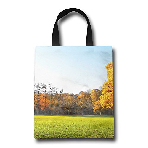 Panorama Landscape (Garden Landscape Nature Panorama Autumn Reusable Shopping Grocery Bag Lightweight Polyester Foldable Beach Travel Tote)