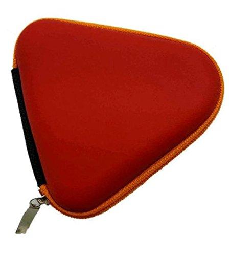 Ouneed ® Regalo para inquieto mano Spinner triángulo dedo Focus TDAH autismo bolsa de juguete llevar (Sin spinner) (Azul) rojo