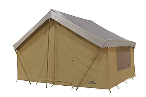 Trek Tents 246C Cotton Canvas Cabin Tent, 10 x 14-Feet, Beige
