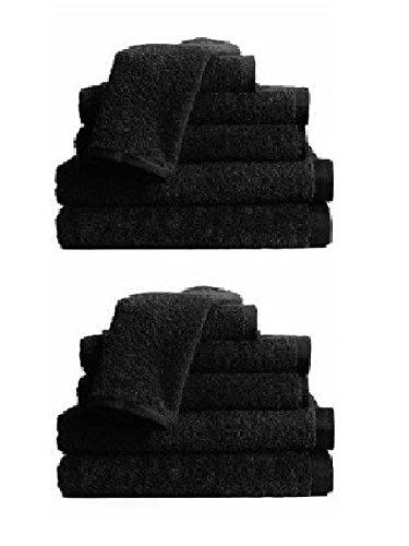 BR Beauty Economy Salon Towels, Black, 24 Towels per Pack