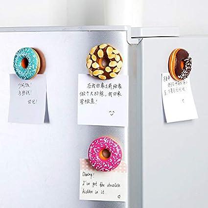 di Simulazione Alimentari Magnete for i Bambini Messaggio Decorazione Holder Lorenory Calamite frigo 2pcs Sveglio Ciambella Dolce Ciambella del Messaggio del Frigorifero Magnete di Souvenir