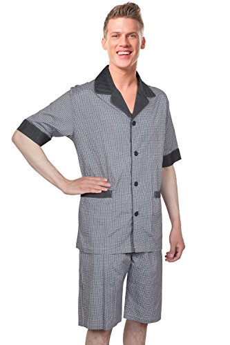 a3cda994ee Benson   Brown Soft Woven Cotton Blend Men Short Pajamas  Sleepwear Loungewear Set by Benson