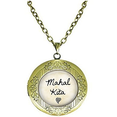 hars Mahal Kita Locket Necklace - I Love You - Tagalog Philippines Locket Necklace - Mahal Kita Locket Necklace - Filipino Quote - Pinoy Gift - Pinay Gift (Necklace Philippines)