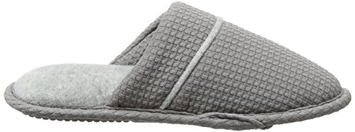 Dearfoams Closed Toe Scuff - Pantuflas Mujer Gris (Medium Grey)