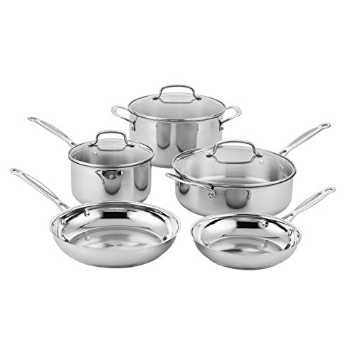 Cuisinart Classic Stainless Steel Cookware Set 8Piece