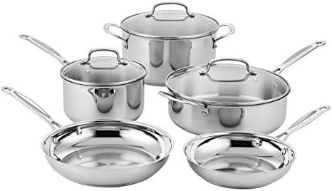 Cuisinart Classic Stainless Steel Cookware Set (8-Piece)