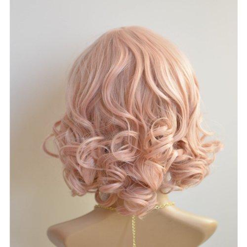 X&Y ANGEL New Kanekalon Short BOB Style Wavy Heat Resistant Kanekalon Hair Wig Pink -