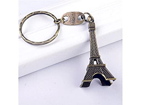 QWhing Casa 1PC Elegante Torre Eiffel de Bronce Llavero ...