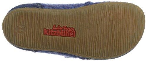 Living Kitzbühel Klettslipper Velourkappen Kampen, Zapatillas de estar Por Casa Unisex Niños Pantalon De Mezclilla (Jeans)