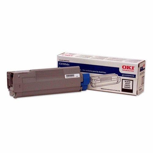 Oki Data 43324420 Black Toner Cartridge 6K for C6100 Series - Black Toner 6k