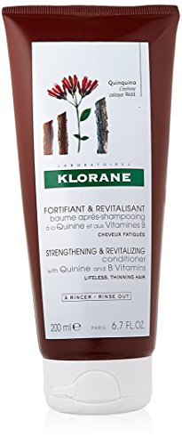 Klorane Conditioner with Quinine and B Vitamins for Thinning Hair, Support Thicker, Stronger, Healthier Hair, Men & Women 6.7 oz.