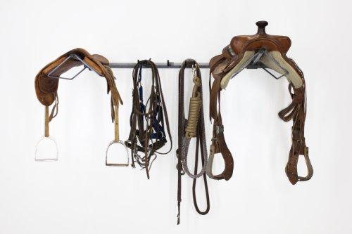 08002 Monkey Bars Double Horse Saddle Rack - Holds 2 Saddles and Leads, Wall Mounted (Horse Trailer Rack compare prices)