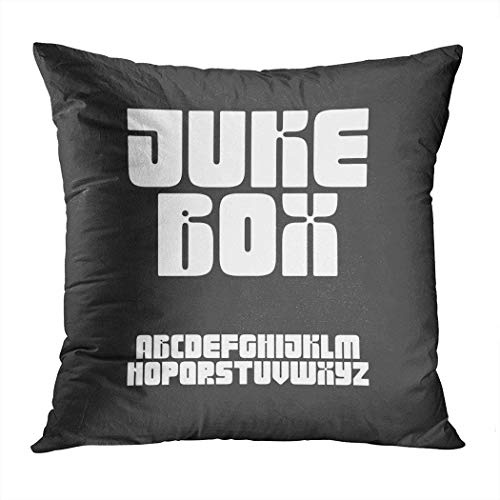 Peyqigo Throw Pillow Cover 20x20 Inch60S 70S Inspired Retro Style Chubby Font 70S RetroPolyester Square Print Cushion Bedroom Couch Sofa Car Decorative Pillowcase Hidden Zipper Home Decor (Cartoon Characters From The 60s And 70s)