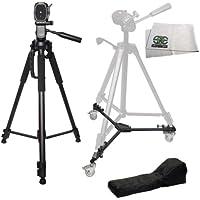 72 Professional Heavy Duty 3-Way Pan Head Video Camera Tripod & Heavy Duty Dolly For The Canon XH-A1, XH-A1S, XH-G1, XL-1S, XL1, XL2, XL-H1, GL2, GL1, XM2, XM1 Mini Dv Camcorders
