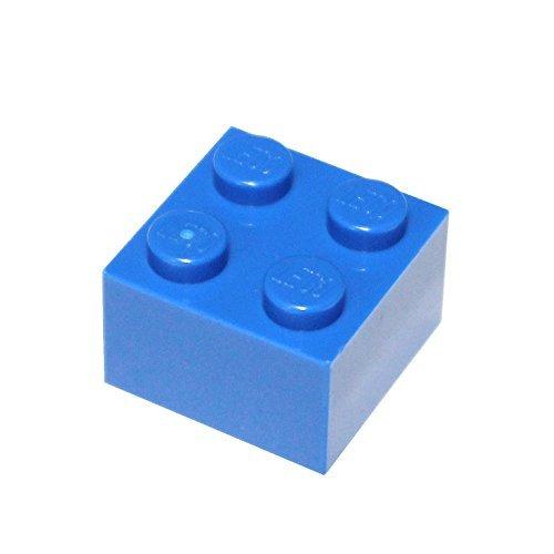 LEGO Parts and Pieces: 2x2 Blue (Bright Blue) Brick x50