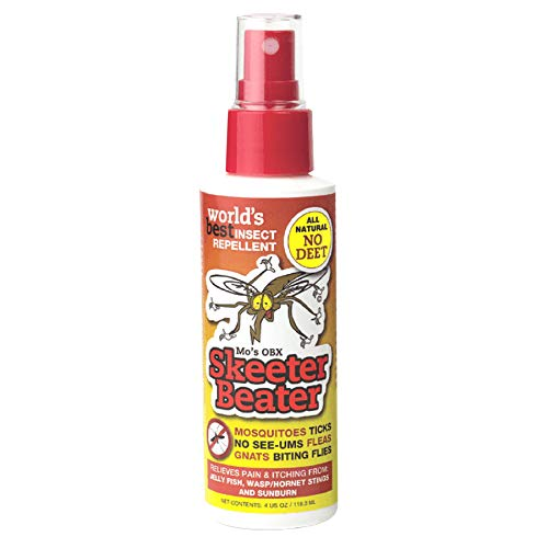 SKEETER BEATER: NO DEET - ALL NATURAL ORGANIC Insect Repellent Mosquito Repellent (also Gnats, Green Heads, Ticks, Flies, May Flies and Many More) Skeeter Beeter 4 Oz. Spray Pump