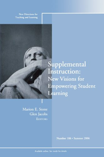 Supplemental Instruction: New Visions for Empowering Commentator Learning: New Directions for Teaching and Learning, Number 106