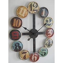 Large Metal Contemporary Wall Clock