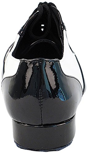 Mens Ballroom Dance Shoes Standard & Smooth Tango Wedding Salsa Shoes Black Patent & White Leather M100101EB Comfortable - Very Fine 1'' Heel 9 M US [Bundle of 5] by Very Fine Dance Shoes (Image #4)