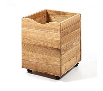 Ventamueblesonline Set DE Cajas DE Madera con Ruedas ZEKE: Amazon.es: Hogar
