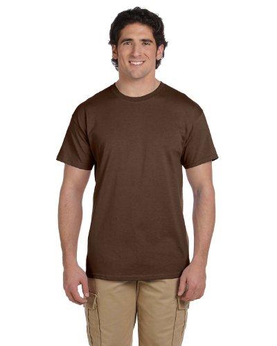 Fruit of the Loom mens 5 oz. 100% Heavy Cotton HD T-Shirt(3931)-CHOCOLATE-2XL