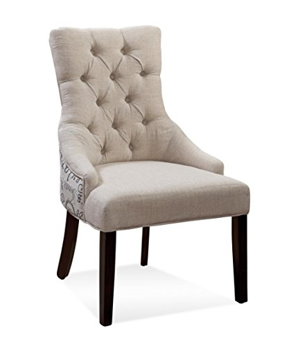 Bassett Mirror Company DPCH15-739 Fortnum Arm Chair in Natural by Bassett Mirror Company