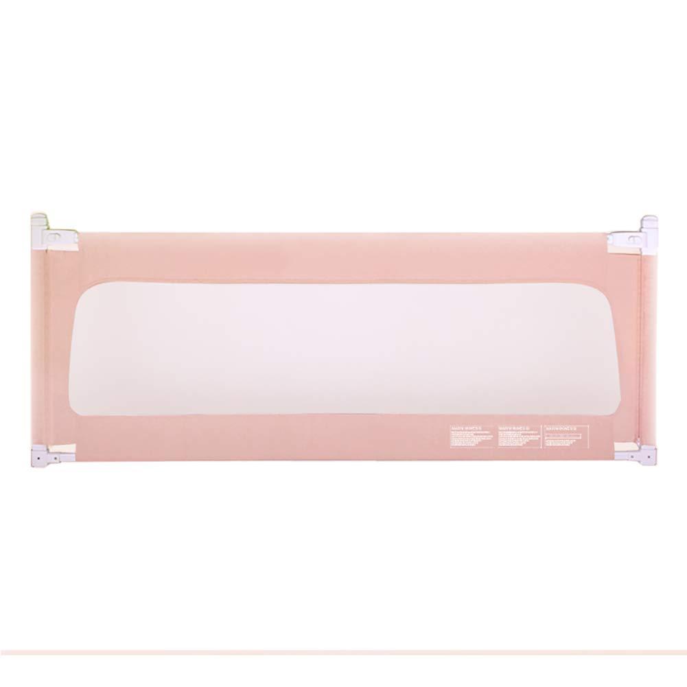 ベッドフェンス, ベイビー/幼児用ポータブルベッドレール、垂直リフト幼児ガードレールベビーベッドガード、4色有り - 90cm超高 (色 : Pink, サイズ さいず : 220cm) 220cm Pink B07K5C1SZ3